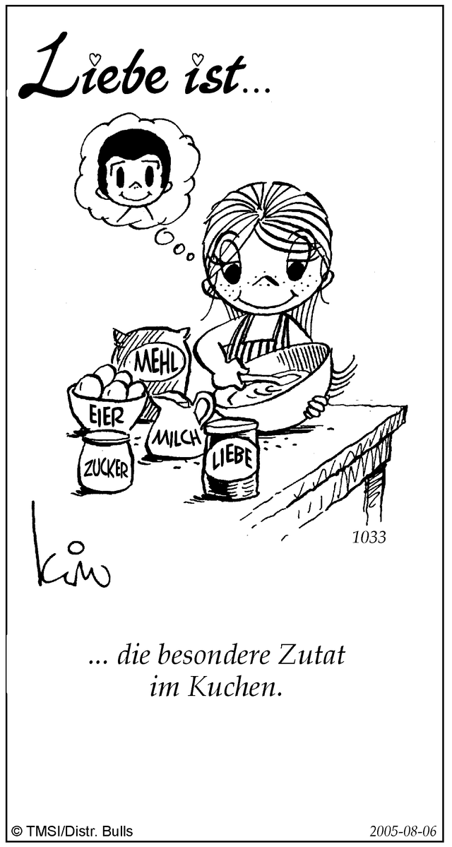 liebe ist cartoon
